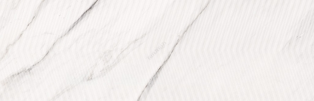 CARRARA CHIC WHITE CHEVRON STRUCTURE GLOSSY 29X89